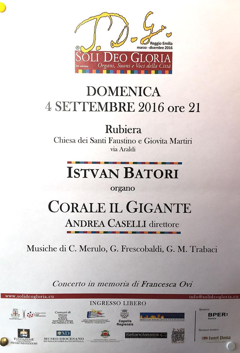 Concerto Istvan Batori e Corale il Gigante